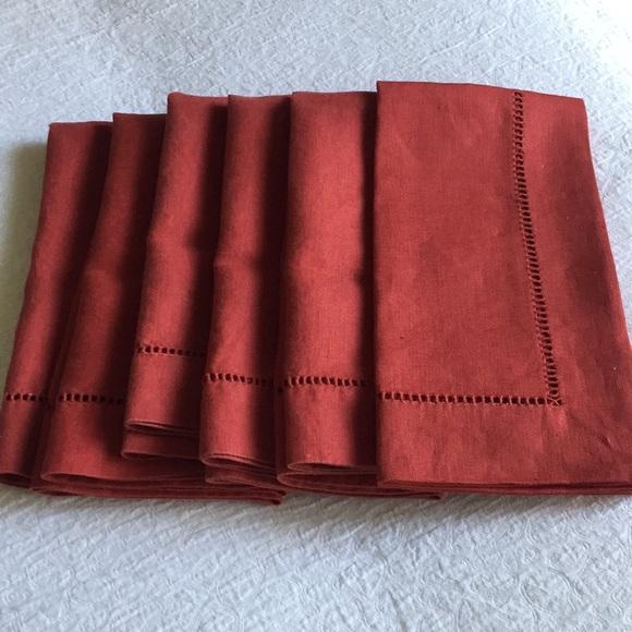 Pottery Barn Other - Pottery Barn linen hemstitch napkins